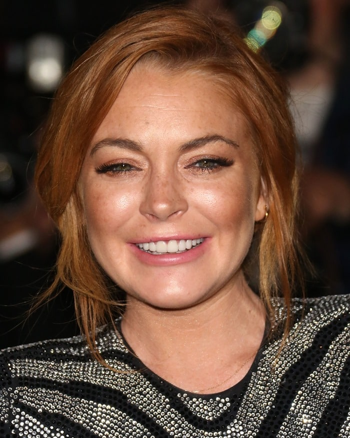 Lindsay Lohan at the GQ Men of the Year Awards held at the Royal Opera House in London, England, on September 2, 2014