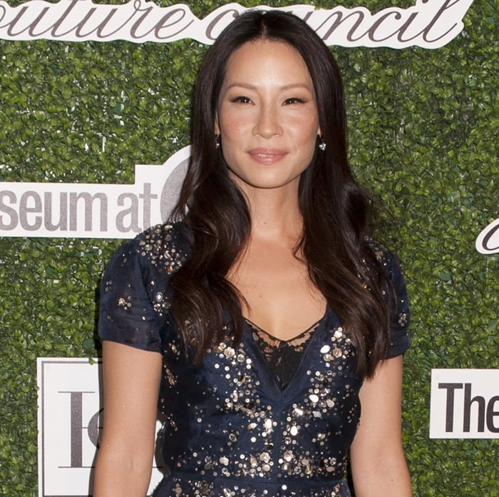 Lucy Liu at the 2014 Couture Council Awards Annual Benefit Luncheon Honoring Carolina Herrera in New York City on September 3, 2014