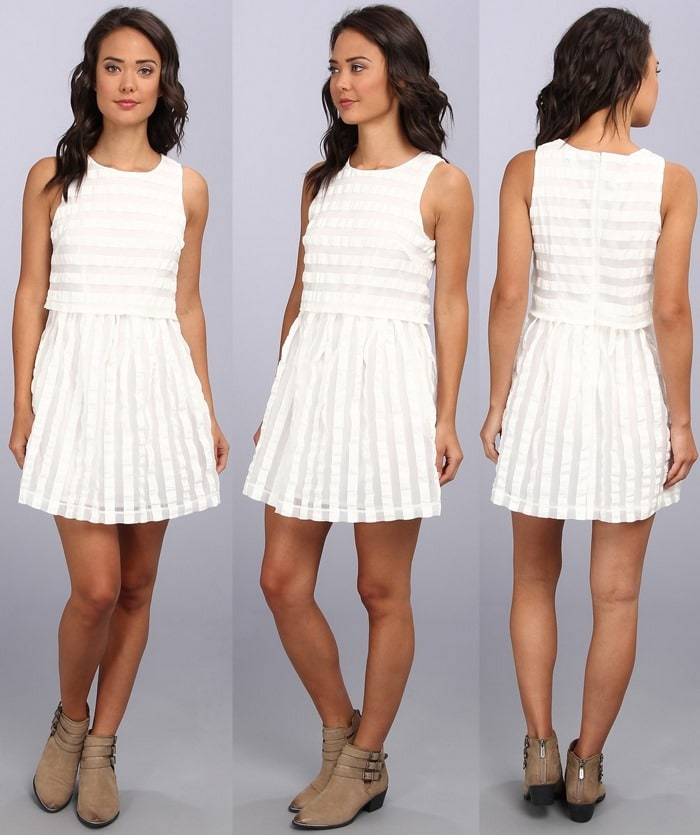 "MINKPINK ""The Pianist"" Dress in Chalk White"