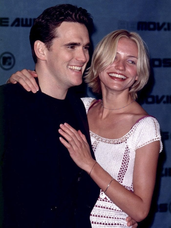 Pictured in May 1998, Matt Dillon and Cameron Diaz began dating in 1995 and broke up shortly after filming There's Something About Mary in 1998