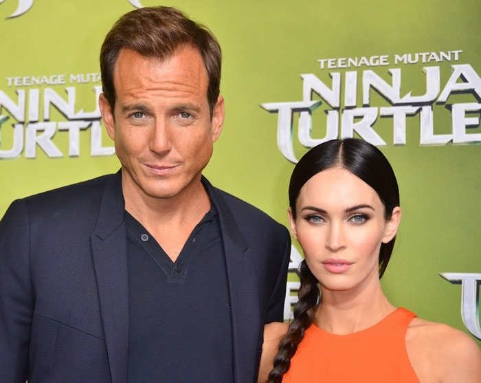 Megan Fox and Will Arnett at the 'Teenage Mutant Ninja Turtles' premiere in Sydney, Australia, on September 7, 2014