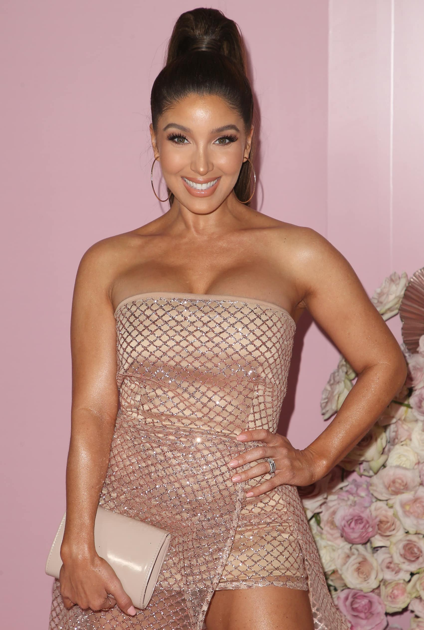 Melissa Molinaro attends the official launch of the Patrick Ta Beauty Major Glow collection