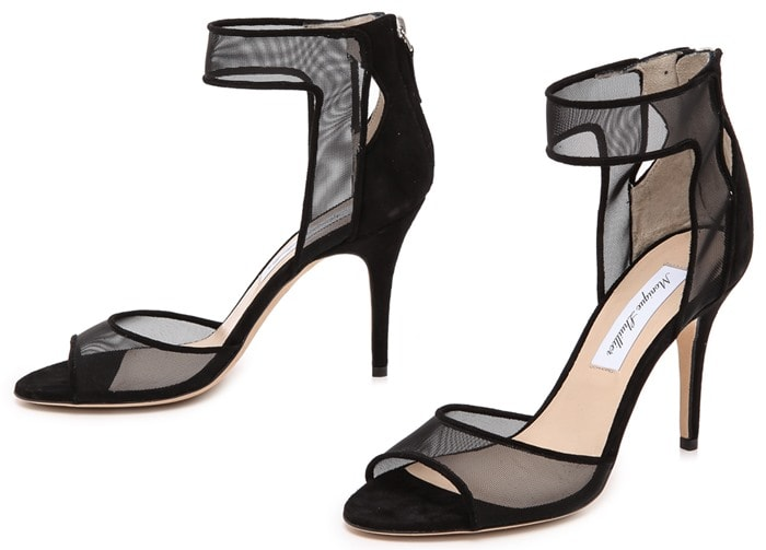 Monique Lhuillier Laurel Sandals Black