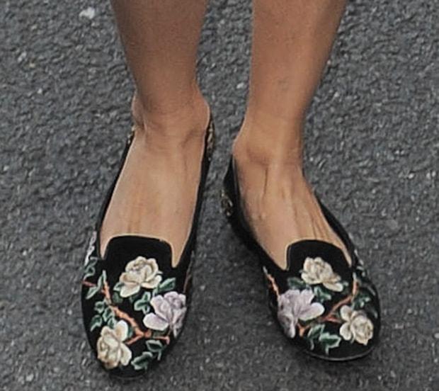 Olivia Palermo wearing Alexander McQueen flats