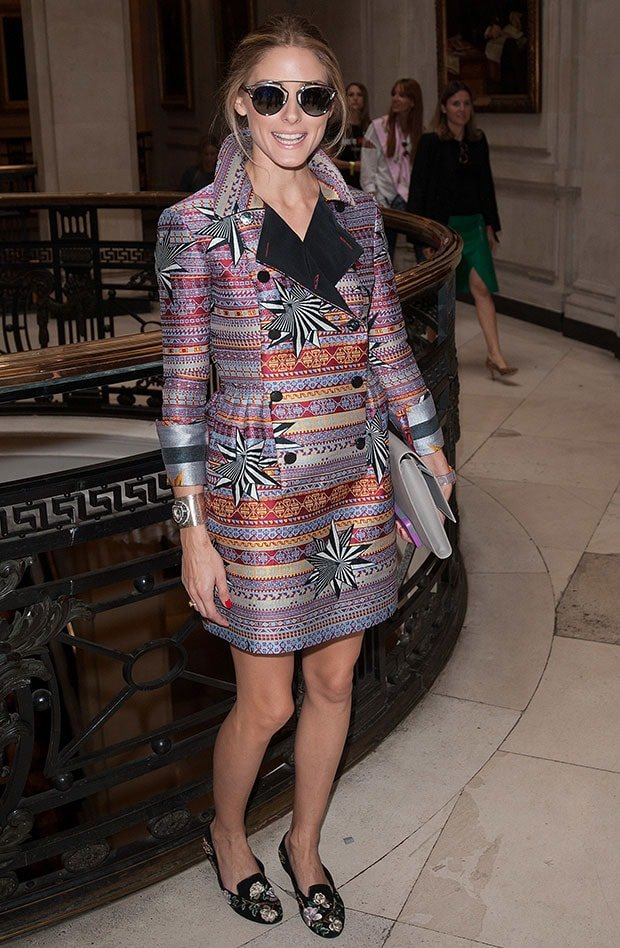 Olivia Palermo at London Fashion Week Spring/Summer 2015 in London, England, on September 14, 2014