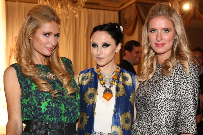 Paris and Nicky Hilton both wore dresses fromAlice + Olivia by Stacey Bendet