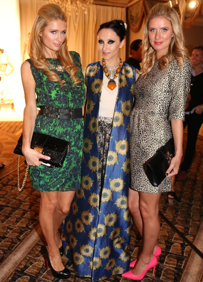 Paris Hilton, Stacey Bendet, and Nicky Hilton at the Alice + Olivia by Stacey Bendet Fashion Show