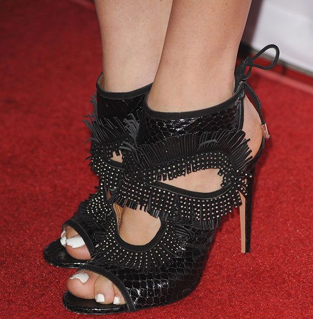 Peyton List S Hot Feet Amp Legs In Sexy Thing Studded Fringe