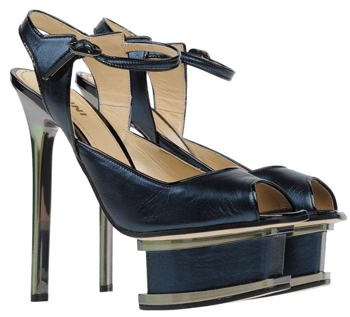 Pollini Blue Sandals