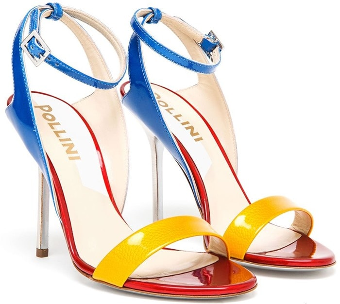 Pollini Multicolor High-Heel Stiletto Sandals