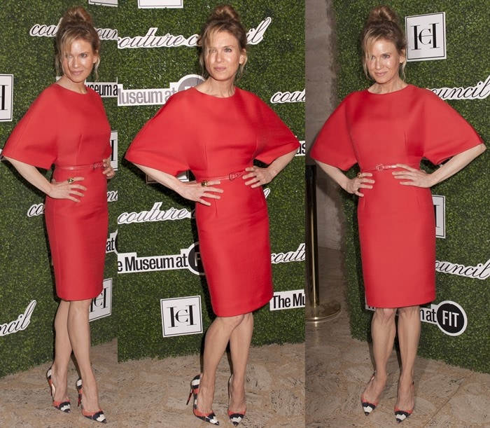 Renee Zellweger paraded her long legs at the 2014 Couture Council Awards Annual Benefit Luncheon Honoring Carolina Herrera