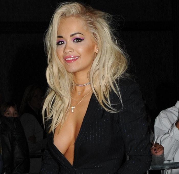 Rita Ora attends The London 2014 Stella McCartney Green Carpet Collection