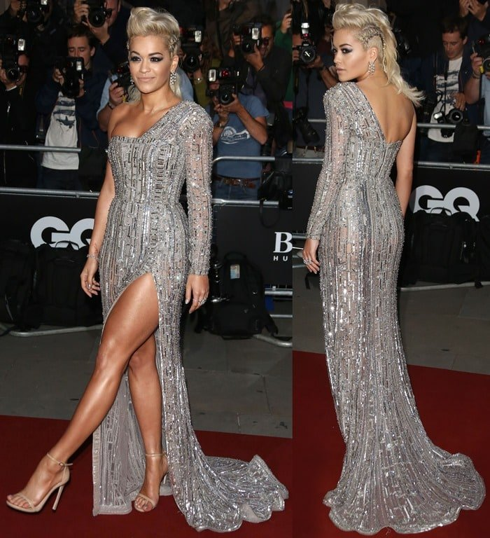 Rita Ora picked the perfect sandals to wear with her Zuhair Murad gown