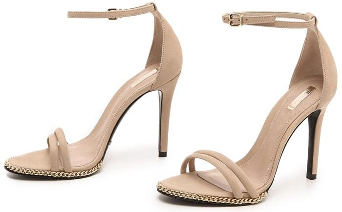 "Schutz ""Panteria"" Nubuck Sandals"