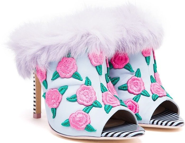 Sophia Webster Pink Louby Rabbit Fur High Heels