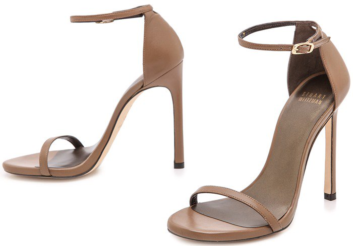 Stuart Weitzman Brown Nudist Sandals Truffle