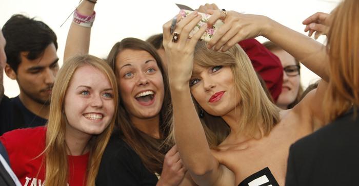Taylor Swift at the 2014 Deutscher Radiopreis held at Schuppen 52 in Hamburg, Germany, on September 4, 2014