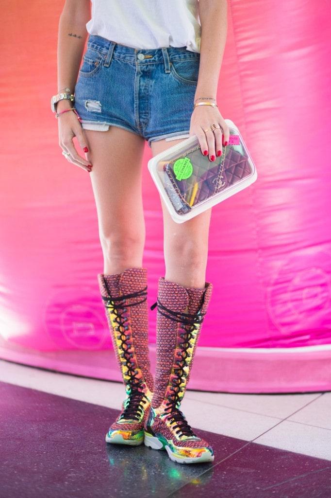 Chiara Ferragni's Chanel knee-high sneakers