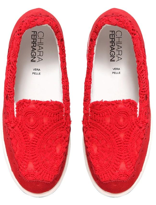 Chiara Ferragni Macrame Lace Sneakers