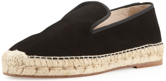Elyse Walker Los Angeles Dee Suede Espadrille Loafers