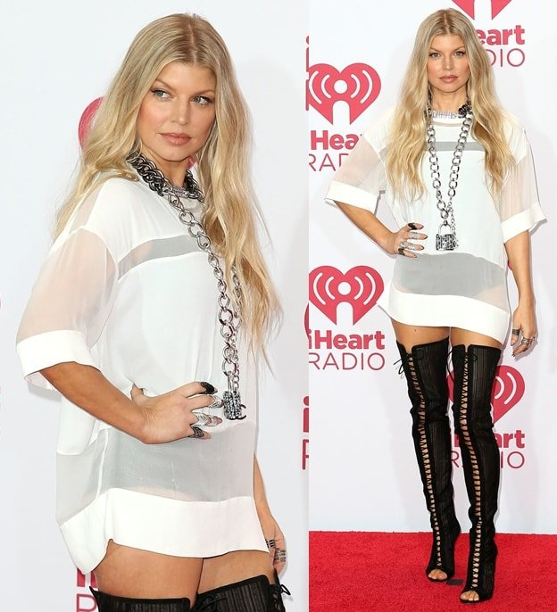 Fergie at the 2014 iHeart Radio Music Festival held at MGM Grand Casino in Las Vegas on September 20, 2014