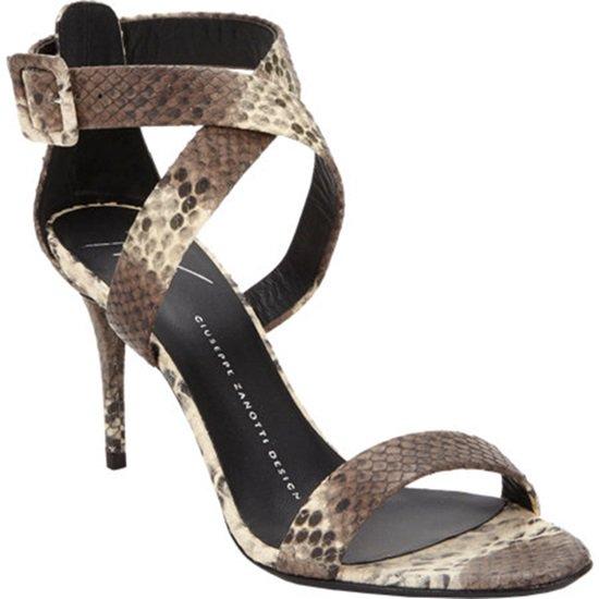 Giuseppe Zanotti Python Criss-Cross Sandals