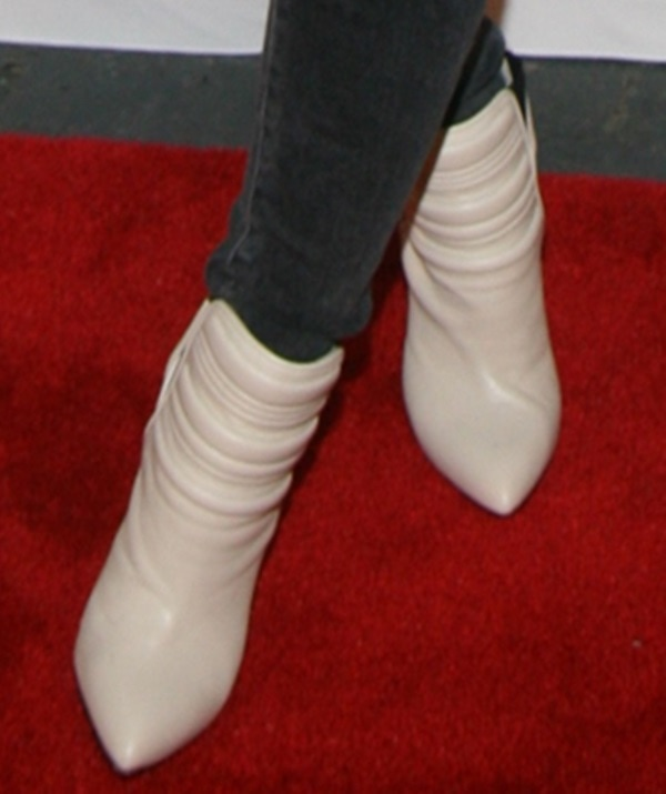 Hilary Duff cool IRO bootsfeature padded ankles and pointy heels