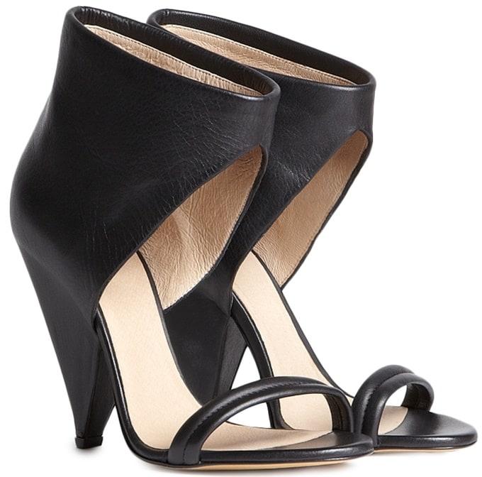 "IRO ""Saika"" Cone-Heel Sandals in Black"