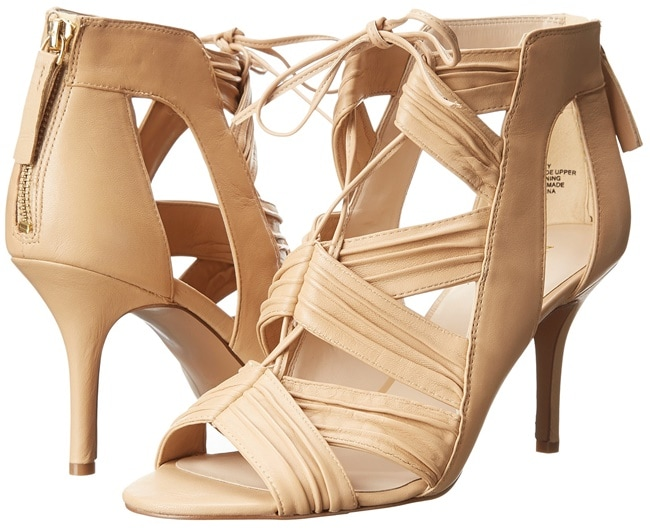 nine west galaxy lace up sandals