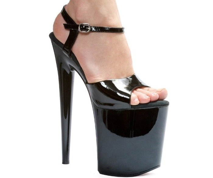 8 Inch High Platform Stripper Sandals