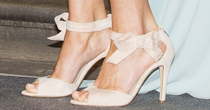 "Catherine, Duchess of Cambridge (aka Kate Middleton), shows off her sexy feet in open-toe L.K. Bennett ""Agata"" sandals"