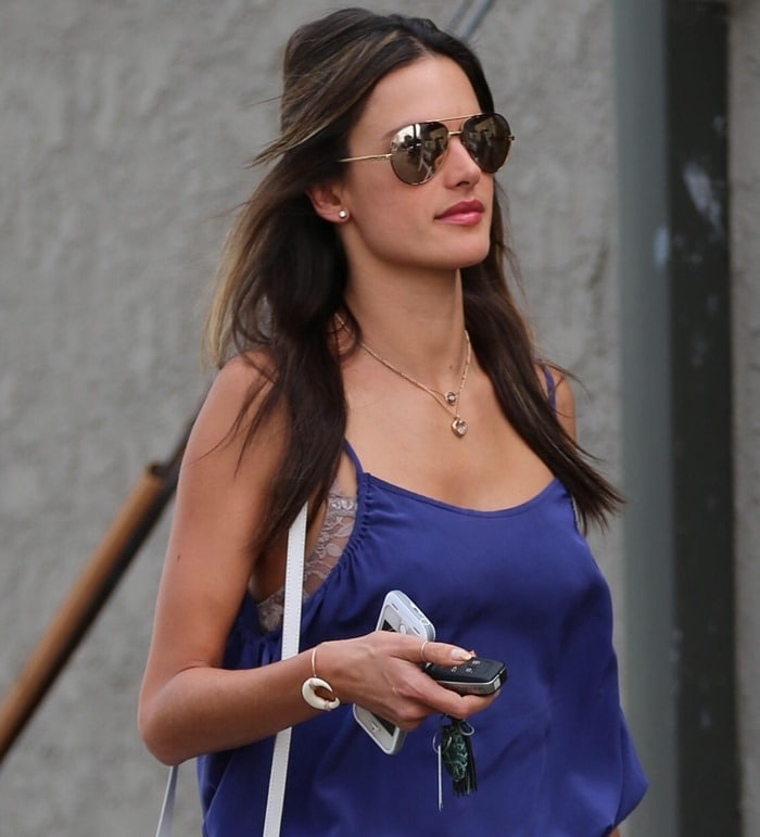 Alessandra Ambrosio shopping at Jay Wolf Clothing in Sydney, Australia, on October 3, 2014