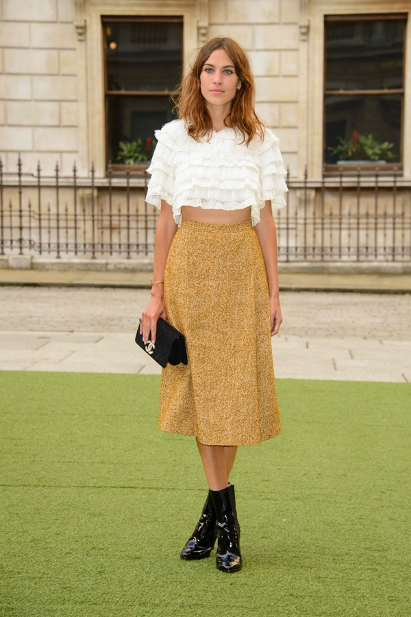 Alexa Chung at the Royal Academy Summer Exhibition Preview Party in London on June 4, 2014