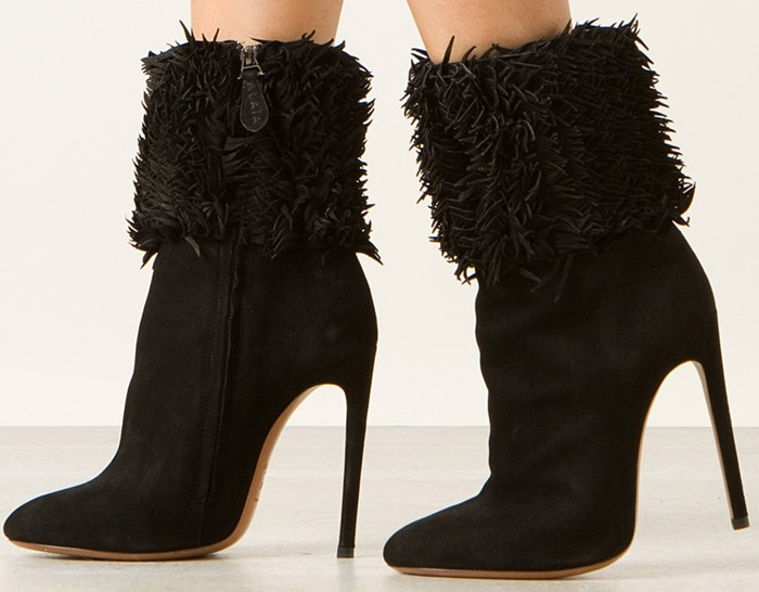 Azzedine Alaïa Black High Heel Suede Ankle Boots