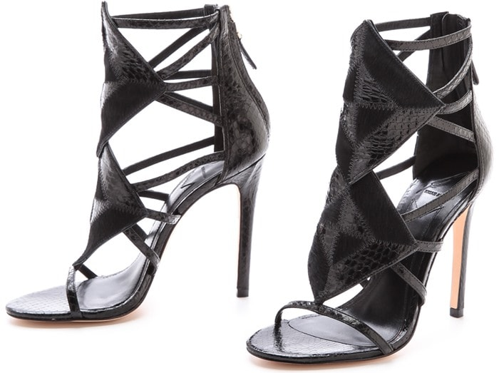 "B Brian Atwood ""Luanna"" Caged Sandals"