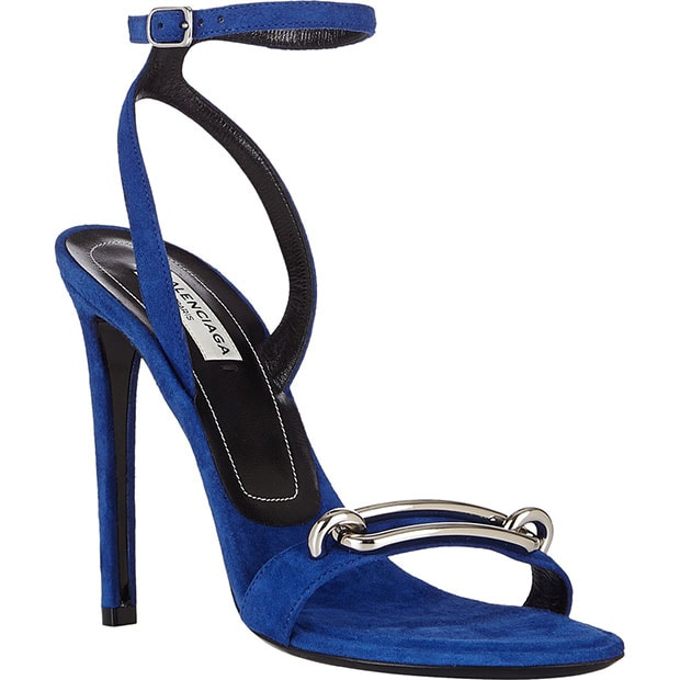 Balenciaga Buckle-Front Ankle-Strap Sandals