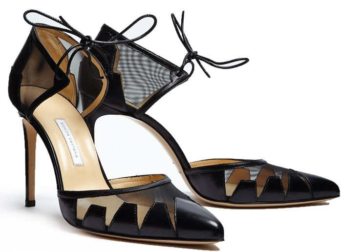 Bionda Castana Black Lana Calf Leather With Mesh Shoes