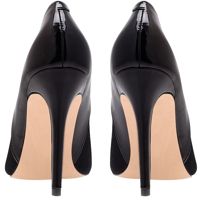 A sleek, single-sole pump finishes your look with striking sophistication.