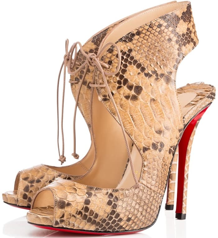 "Christian Louboutin ""Allegra"" Sandals in Animal Print"