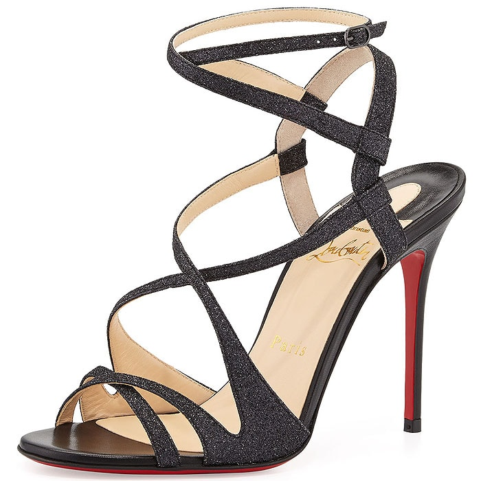 Christian Louboutin Audrey Strappy Glitter Sandals