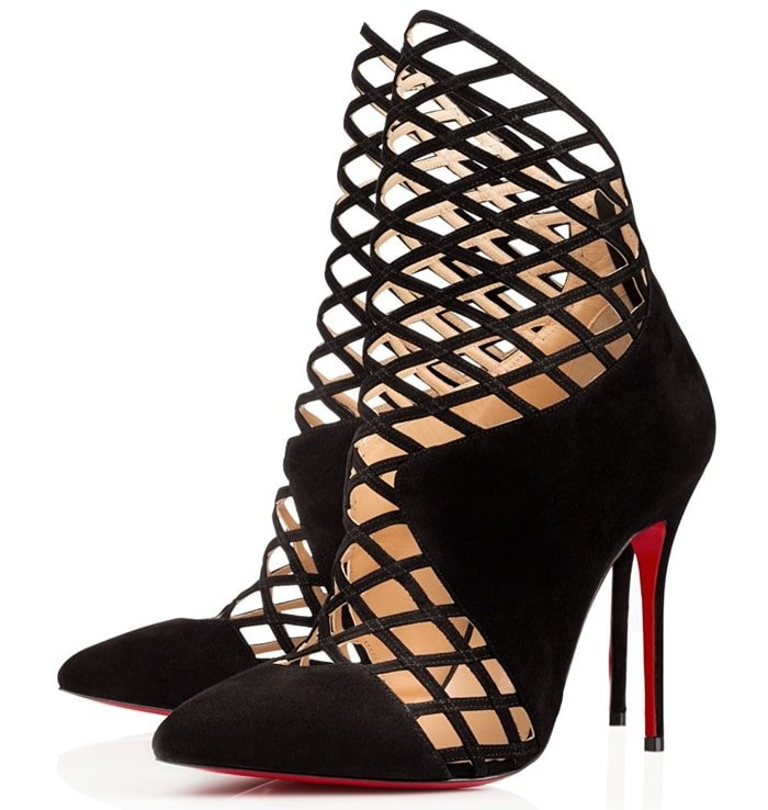 Christian Louboutin Encage 100mm Booties
