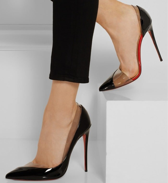 Christian Louboutin Miss Rigidaine 120 patent-leather and PVC pumps