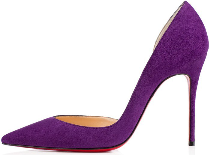 Christian Louboutin Purple Iriza Half-d'Orsay Pumps