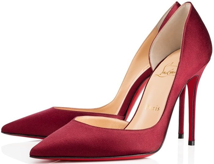 Christian Louboutin Red Iriza Half-d'Orsay Pumps