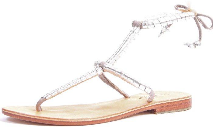 Cocobelle Milano Thong Gladiator Flat Sandals