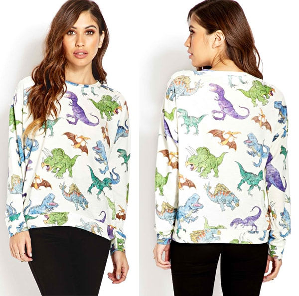 Forever 21 Dino Parade Sweatshirt