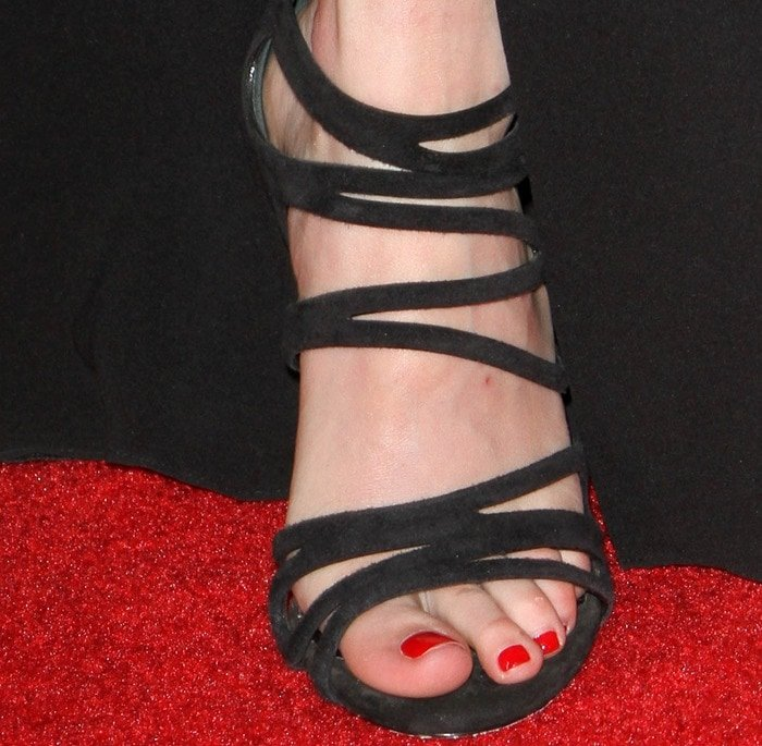 Emma Roberts shows off her sexy feet in Casadei sandals