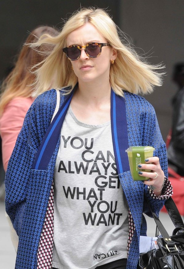 Fearne Cotton leaving the BBC Radio 1 studios in London on June 20, 2014