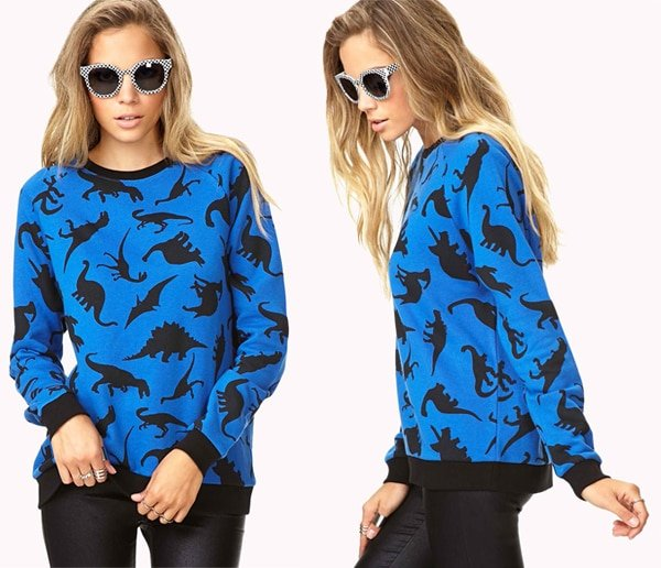 Forever 21 Quirky Dinosaur Sweatshirt