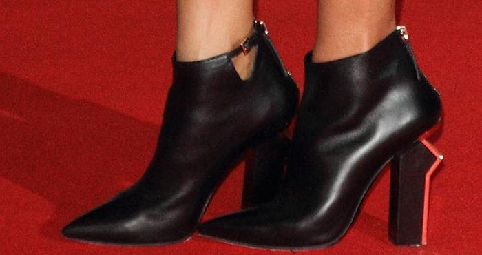 Nicole Scherzinger rockingGianmarco Lorenzi ankle boots